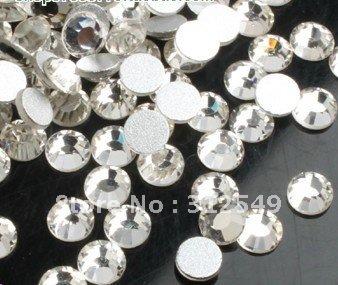 SS5(1.7mm)--High Shine 1440pcs Crystal white/silver Nail rhinestones high quality Gems
