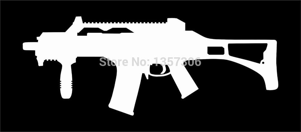 Wholesale 40 pcs/lot G36 Military Gun Vinyl Decal Car Window Truck Bumper Auto SUV Door Sticker 9 Colors(China (Mainland))