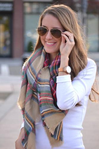 bufanda manta cuadros Winter Women Scarves Imitation Cashmere Plaid Scarf Spain Brand Scarf Oversize Shawl(China (Mainland))