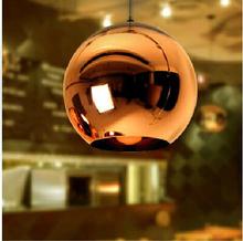 Hot Modern Mirror Glass Ball Pendant Light Copper Lampshade Globe Shade ceiling Lamp home kitchen bar Light Fixtures