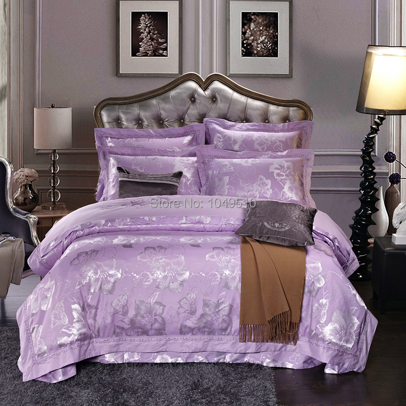 Christmas sale queen size noble silk cotton comforter set for Queen bed sets for sale