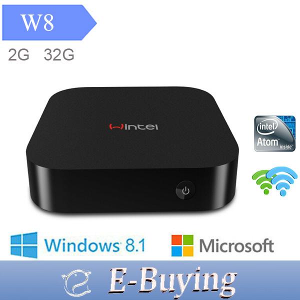 Vensmile W8 MINI PC 2GB RAM+32GB Windows 8.1 OS Intel TV BOX Quad Core 1.33Ghz CPU mini computer Intel HD Graphic GPU bluetooth(China (Mainland))