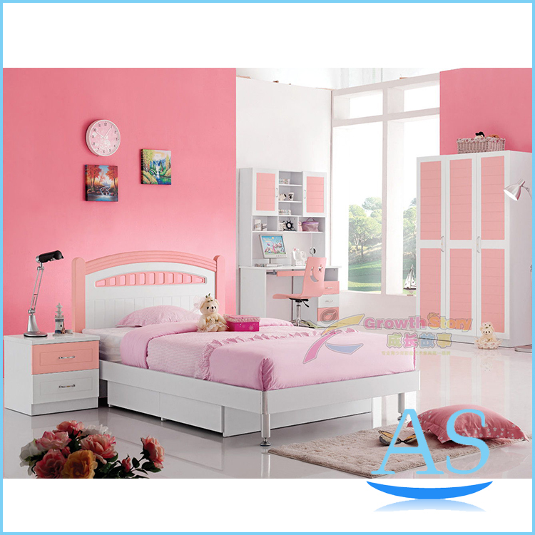 2015 china modern lovely kids bedroom furniture girls for Popular bedroom sets