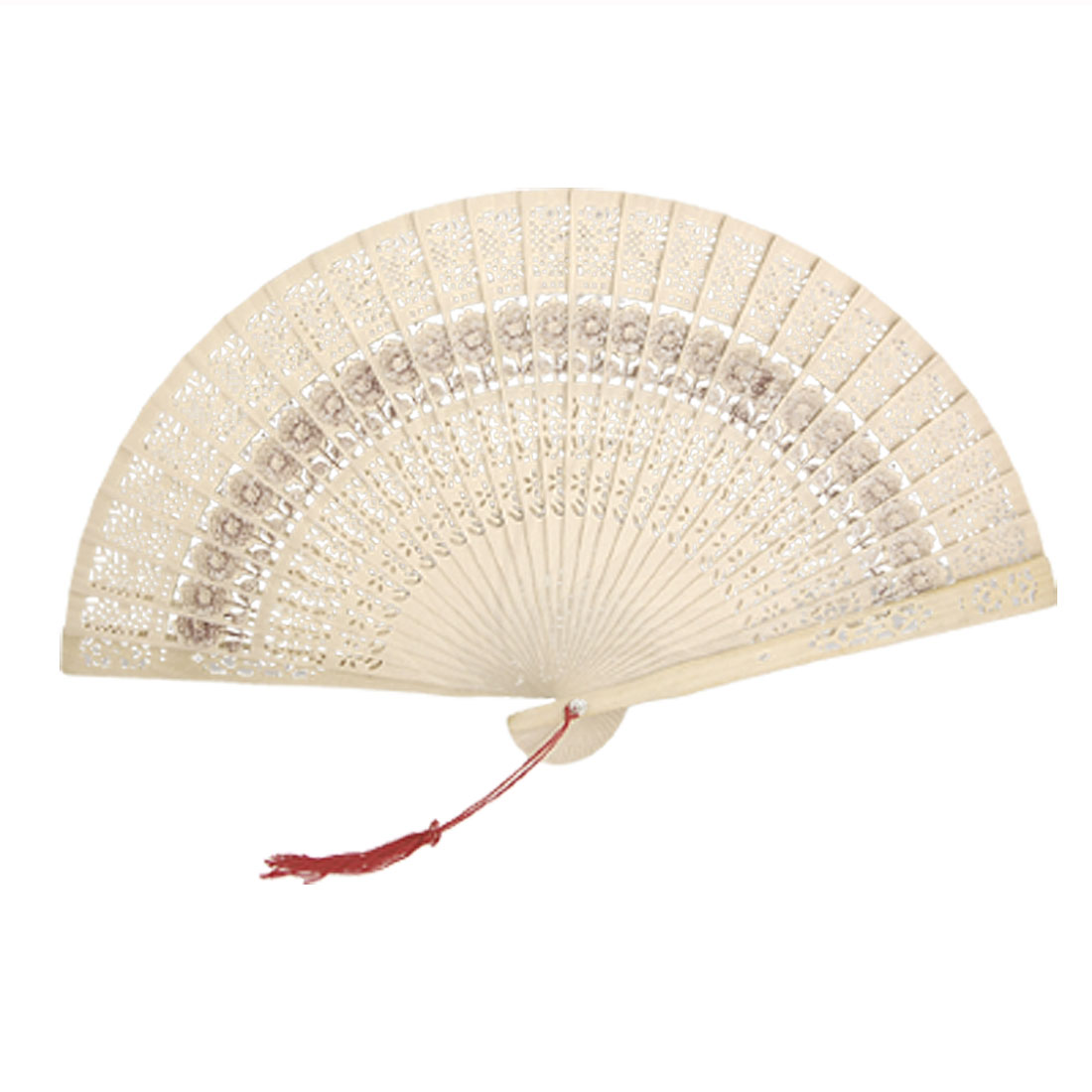 NEW Folding Wooden Carved Sunflower Print Fragrant Hand Fan<br><br>Aliexpress
