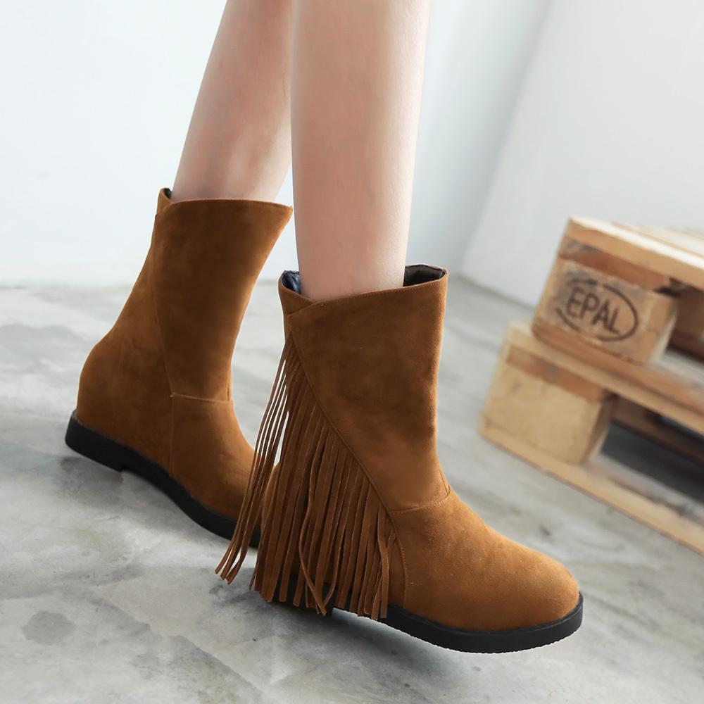Online Get Cheap Fringe Tassel Flat Ankle Boots -Aliexpress.com ...