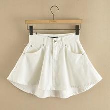 2016 New Hot Sale Summer Style Sexy High Waist Denim Skirt Waist Skirt Plus Size XS-XL Denim Skirt Women White Denim Skirts
