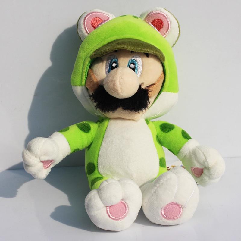 Розничная 1 шт. New Super Mario Bros Cat Луиджи Фаршированные Плюшевые Игрушки Куклы Для Детей Бесплатная Доставка