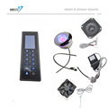 Model no MK220L rectangle shower radio control panel for shower cabin touch screen and waterproof panel