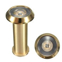 Adjustable Home Security 180 Degree Wide Angle Brass Door Viewer Peep Brass Sight Hole(China (Mainland))