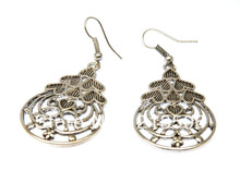 Free shipping Wholesale + Retro Fashion Lady's Alloy Earring,Vintage  Earring, 2 Color ( Anti Silver / Anti Brass )(China (Mainland))