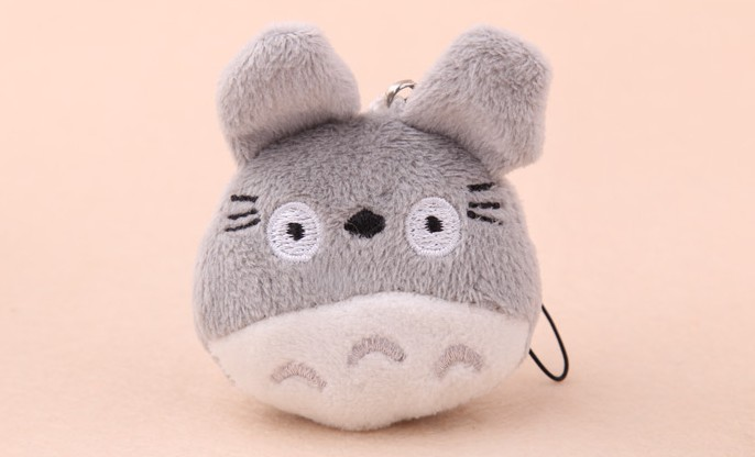 10PCS Mini Japan Totoro Plush TOY Mobile Cell Phone Strap Pendant Charm Strap Lanyard Key Chain; Plush Stuffed TOY DOLL(China (Mainland))