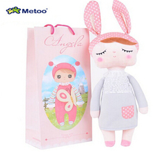 Cute Dolls Baby Metoo Bunny Plush Toys Stuffed Animals Panda Bee Dolls for Girls Baby Kids including Gift Bag  F5(China (Mainland))
