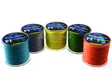 4 strands  Free Shipping 300M PE BRAID FISHING LINE fishing lines  Green/ Yellow/Grey /Blue/Orange  all  braided fishing line(China (Mainland))