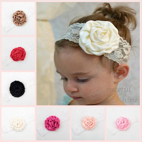 Haarband Kids Hair Accessories Baby Girl Headbands Ribbon Rose Flower Headband Hair Ornaments Bandeau Cheveux