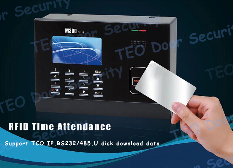 M300Plus TCP IP RFID Time Attendance Punch Card Clock 10000 Card Capacity Built-in WEB LINUX SERVER browser(China (Mainland))