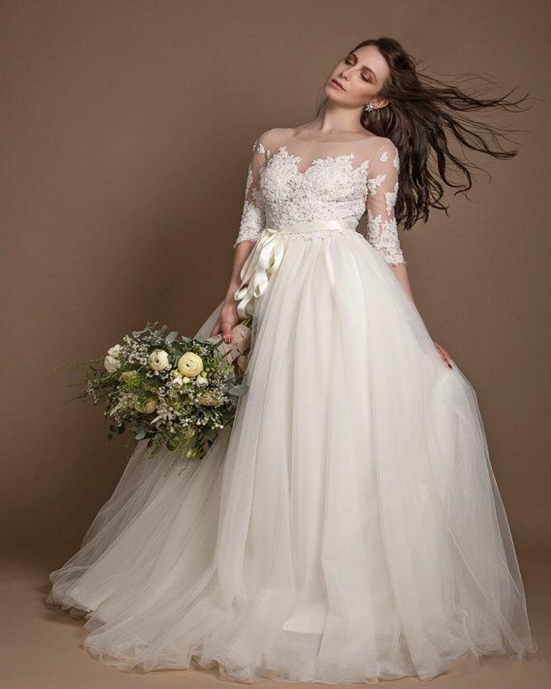 Online Get Cheap Modest Summer Wedding Dress -Aliexpress.com ...