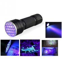 2015 newest Mini Portable UV Ultra 21 LED Flashlight Violet Purple Blacklight Torch Lamp Light free shipping(China (Mainland))