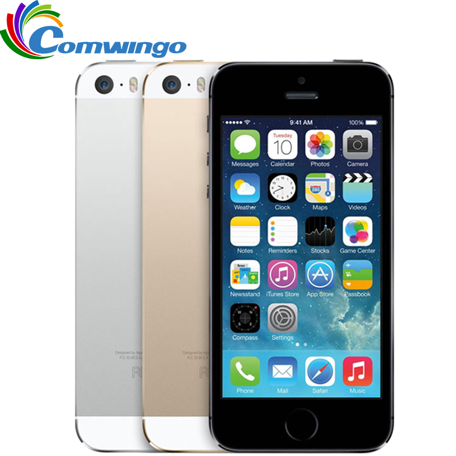Original Factory Unlocked Apple iphone 5s phone 16GB / 32GB ROM IOS White Black GPS GPRS A7 IPS LTE Free Gift 1 year warranty(China (Mainland))