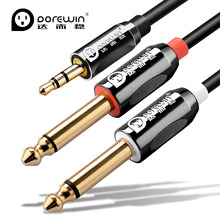 Buy Dorewin Audio cable 3.5mm 6.5mm Aux Cable Adapter Gold Plated Jack Male Male Cable Mixer Amplifier Macbook Laptop TV for $5.63 in AliExpress store