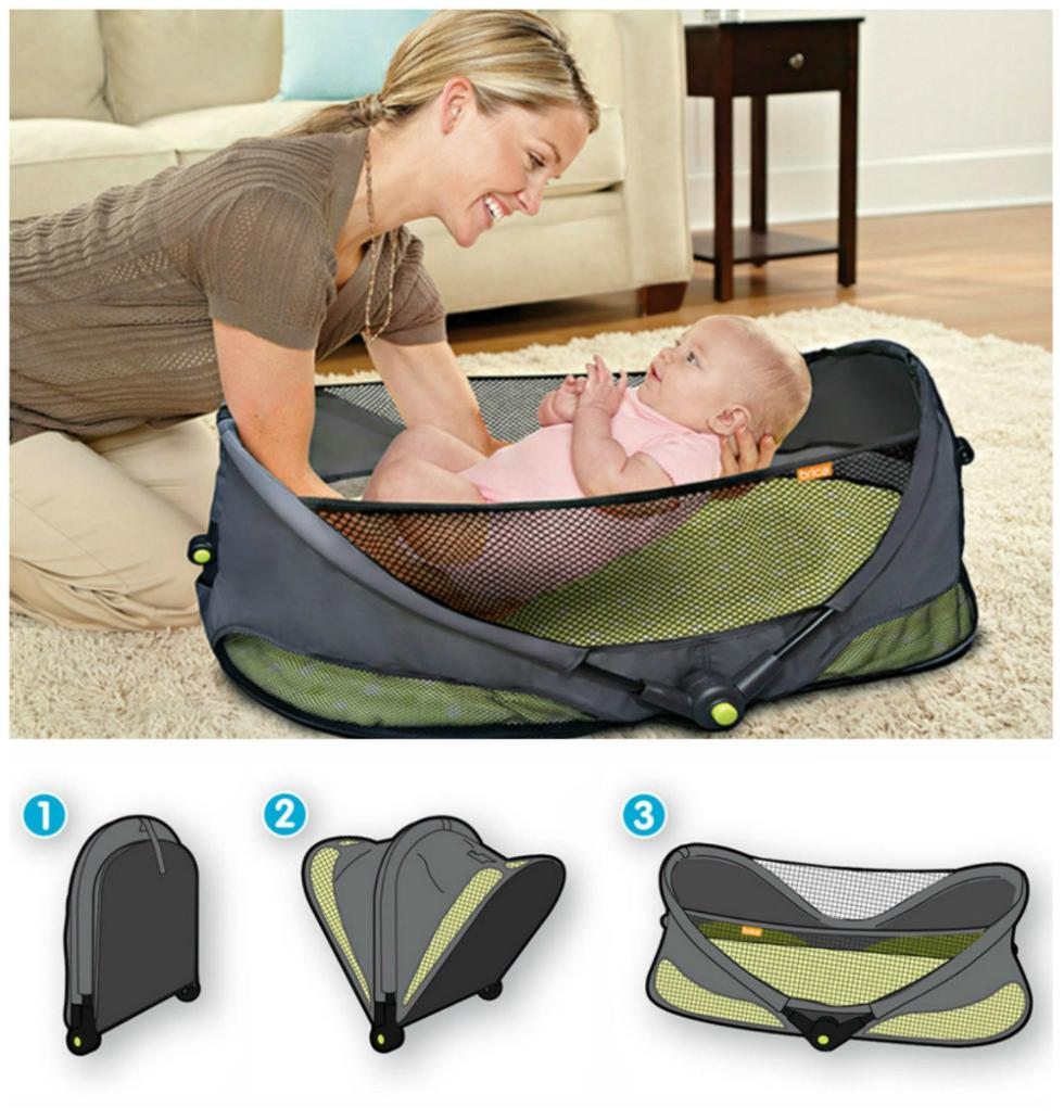 2014 top quality brica portable folding travel bassinet baby bed on the go infant cot. Black Bedroom Furniture Sets. Home Design Ideas