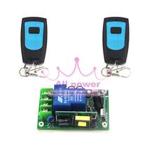 Hot AC 85 В ~ 250 В 3000 Вт 30A 1 канальный радиочастотной беспроводной пульт дистанционного 220 В рч-приемник и 2 4-передатчик переключить мгновенный тактный