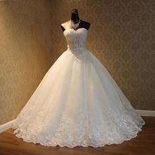 Real Photo 2017 High Quality Elegant Luxury Lace Wedding Dress 2017 Vestido Vintage Bandage Plus Size Ball Gowns(China (Mainland))