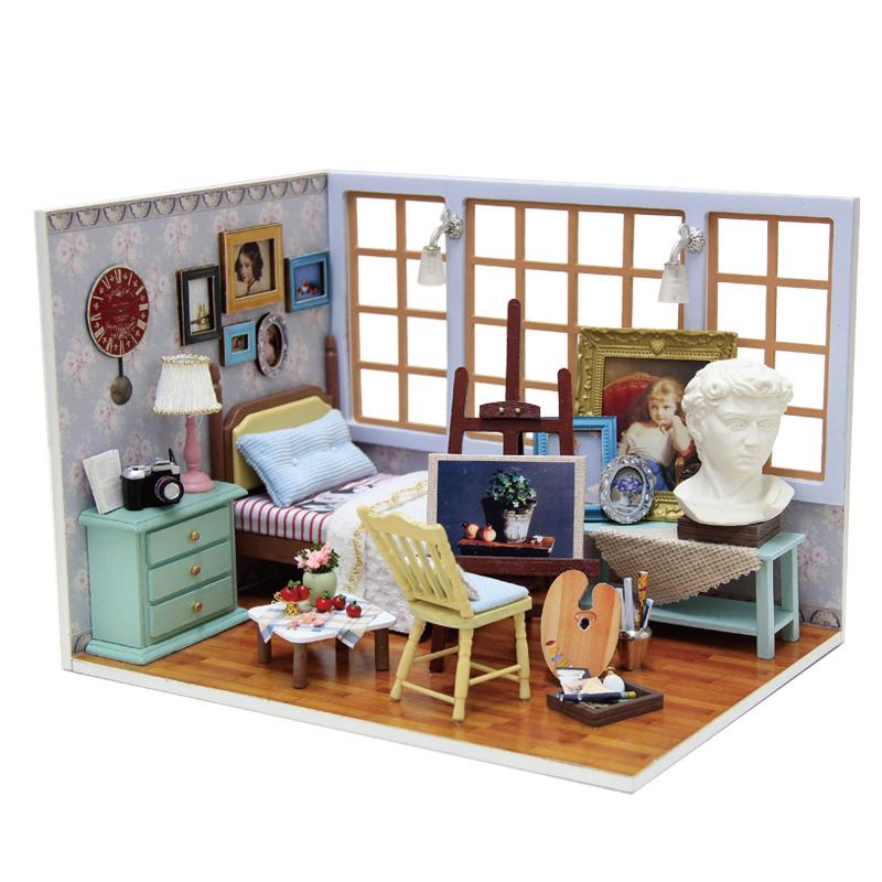 wood dollhouse furniture kits 2