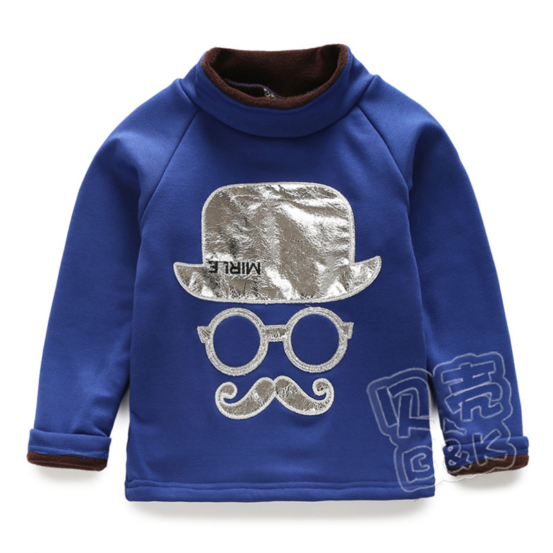 2015 winter new styles boys fashion pattern turtleneck t for Thick long sleeve shirts