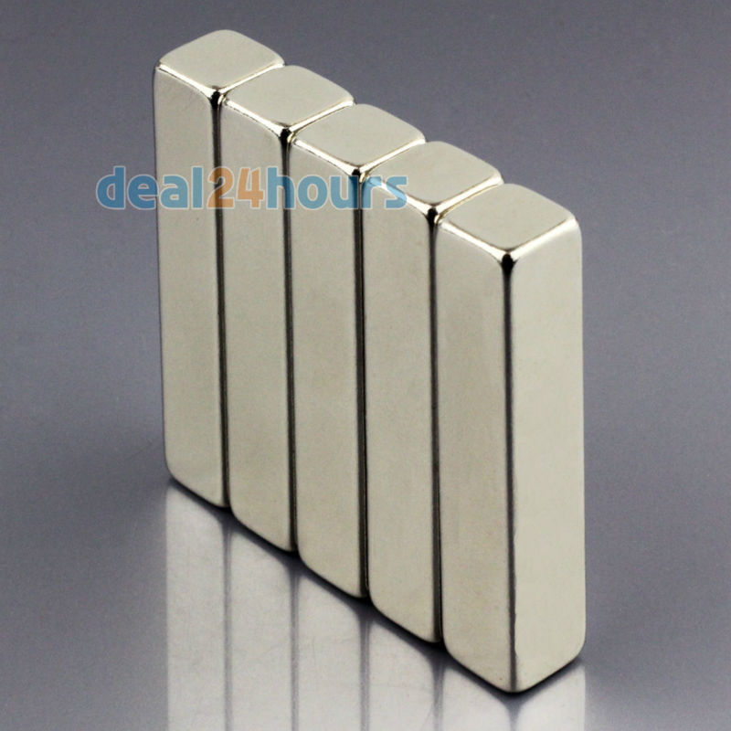 Гаджет  5pcs N50 Super Strong Block Cuboid Neodymium Magnets 50 x 10 x 10mm Rare Earth Free Shipping! None Строительство и Недвижимость
