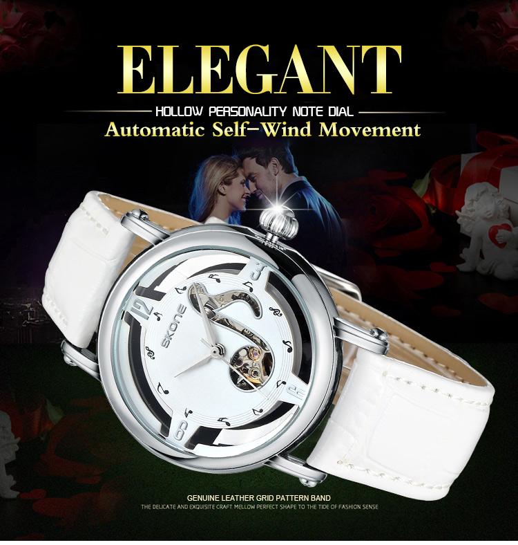 Роскошные часы женщины мужчины сконе золотые полые часы женщины одеваются часы механика автомат self-ветер движение женские часы Relojes