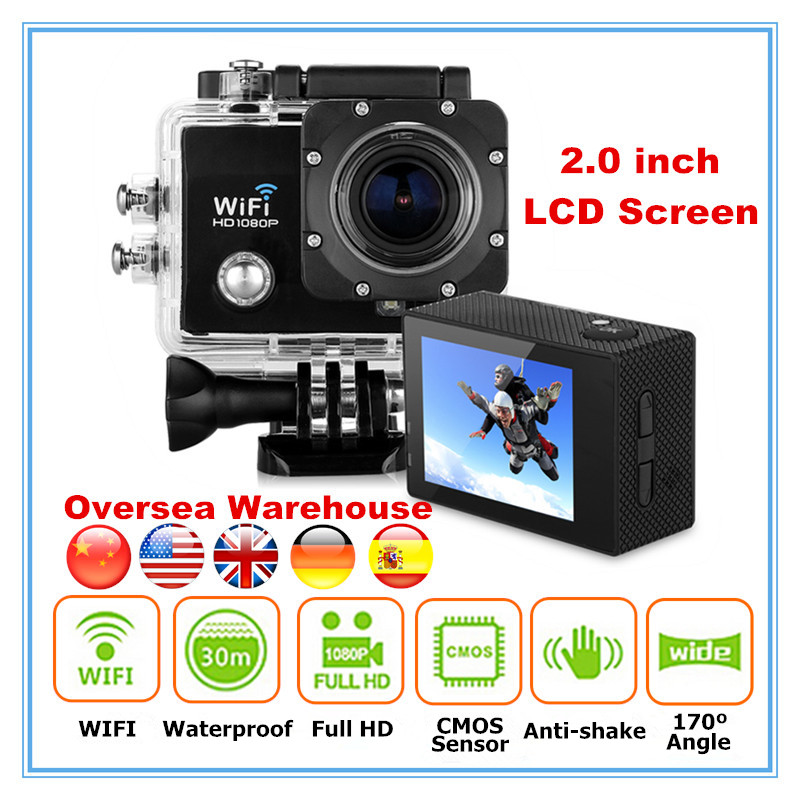 Hot sale sj6000 style 2.0 inch LCD Screen 30M Waterproof 1080P Full HD mini action sport camera with Night Vision and WIFI(China (Mainland))