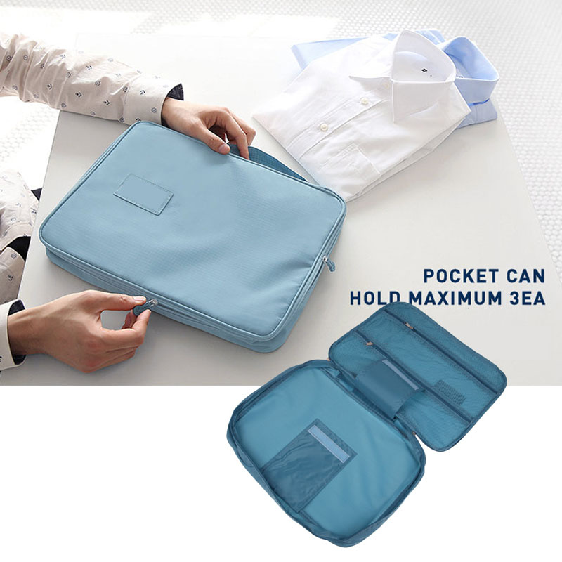 Free Shipping Multifunctional Home Travel Clothing Shirt Tie Nylon Storage Space Saver Bags High Quality(China (Mainland))