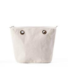 Women's bags lining obag DIY Fast shipping White black canvas bag Interior Zipper Pocket Size 33 *31 * 12cm O-bag parts lady(China (Mainland))