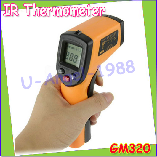 Wholesale 1pcs GM320 Non-Contact Laser LCD Display Digital IR Infrared Thermometer Temperature Meter Gun Point -50~330 degree(China (Mainland))
