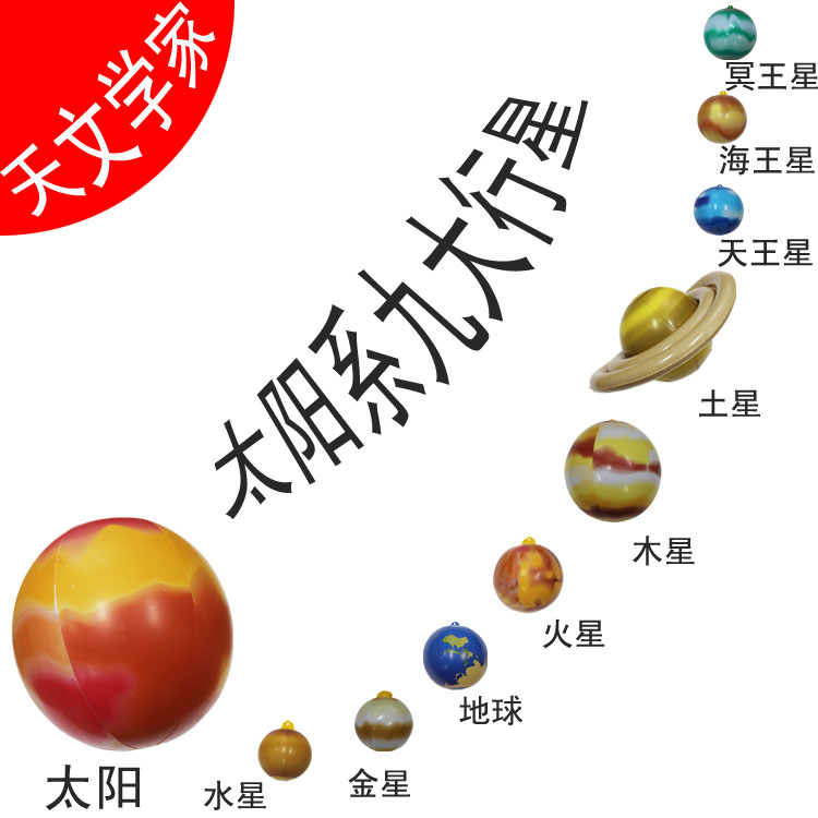 Inflatable SOLAR SYSTEM Galaxy Planet Planets Science Classroom Decor Teacher Giant Children's toys ball Earth Mars mercury(China (Mainland))
