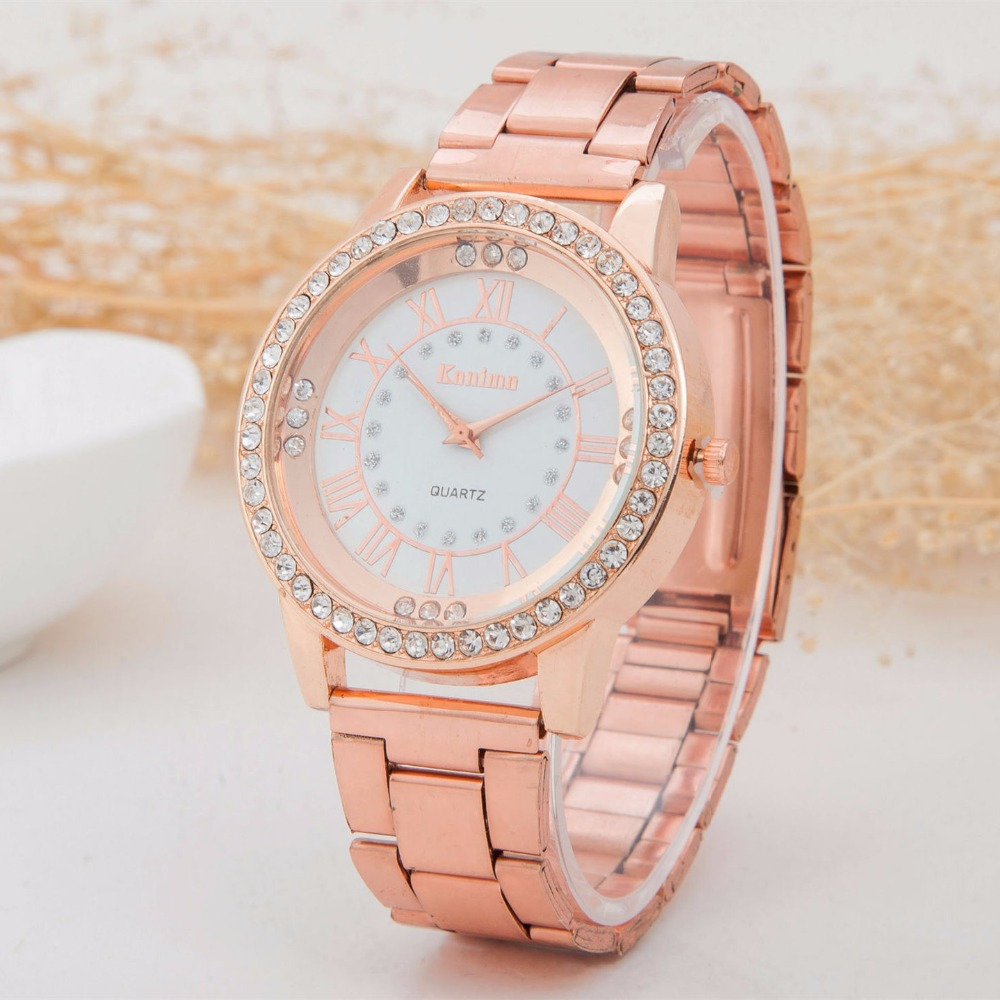 Free shipping via China Post Registered Air Mail Brand Watch Stainless Steel Crystal Wrist Watch Men Women Ladies dress watch(China (Mainland))