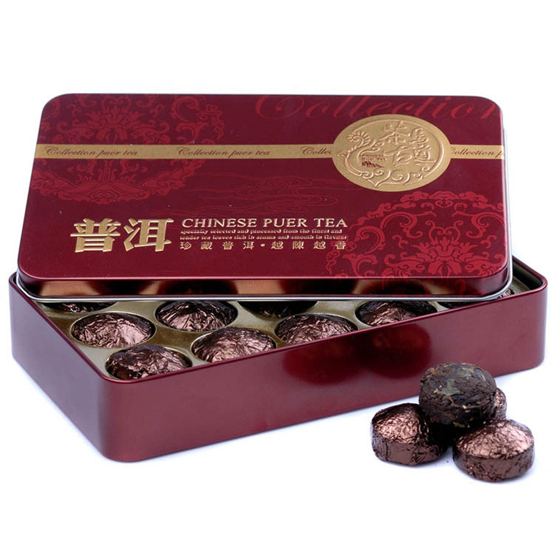 Гаджет  Promotion Black Tea Flavor Pu er Puerh Tea Chinese Mini Yunnan Puer Tea Gift Tin box  Green Slimming tea Free Shipping None Еда