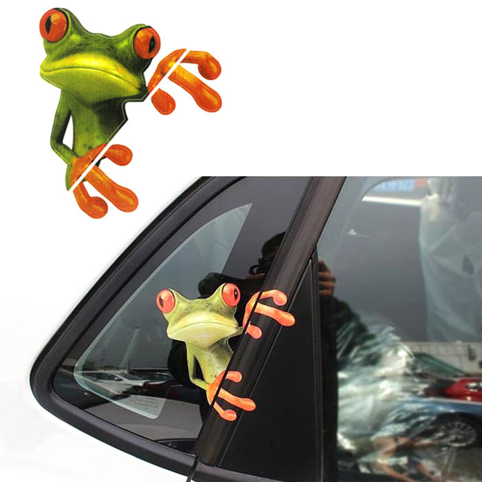 Retail New Funny Car Stickers Design 3D Peep Frog Peep Frog Cool Car Stickers And Decal
