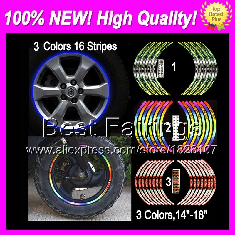 Wheel Rim Decals Stickers For SUZUKI GSXR600 11-14 GSXR 600 GSX R600 GSX-R600 K11 2011 2012 2013 2014 6B16 Wheel Rim Sticker(China (Mainland))