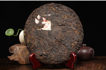 Free shipping Chinese Yunnan Specialty Caizhe Puer Tea vintage healthy green food big round cake cooked