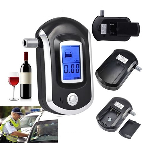 2016 Portable Smart Breath Alcohol Tester Digital LCD Breathalyzer Analyzer AT6000(China (Mainland))