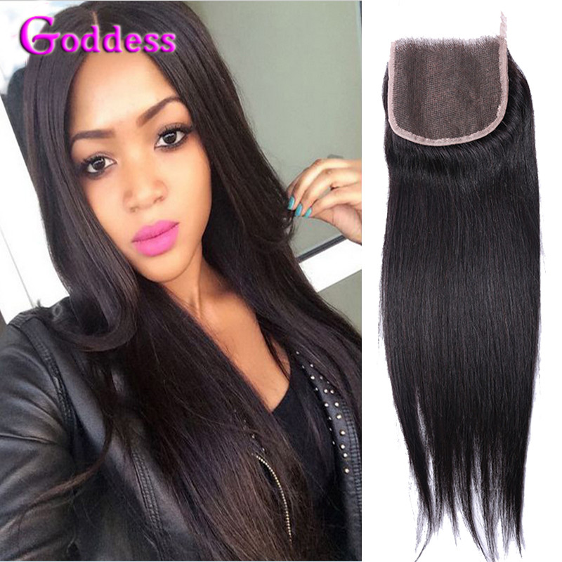 6A Indian Virgin Hair With Closure Unprocessed Straight Indian Virgin Hair With Closure Virgin Human Straight Hair With Closure<br><br>Aliexpress