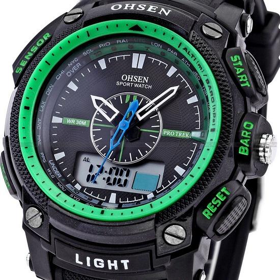 ohsen 2013 unisex waterproof digital lcd alarm date mens