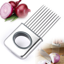 Vegetable Tools Easy Onion Holder Slicer Tomato Cutter Stainless Steel Kitchen Gadgets No More Stinky Hands 301-0710(China (Mainland))