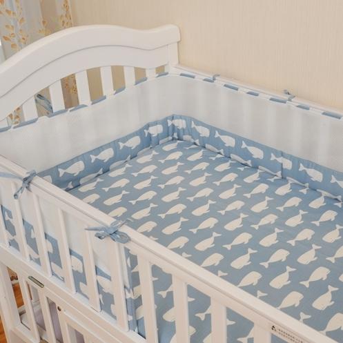 Детская кровать бампер 1 шт. 16 Стилей 2016 новый 200*28 см кроватки вокруг защиты 1 шт. дышащей сетки хлопок для новорожденного ребенка