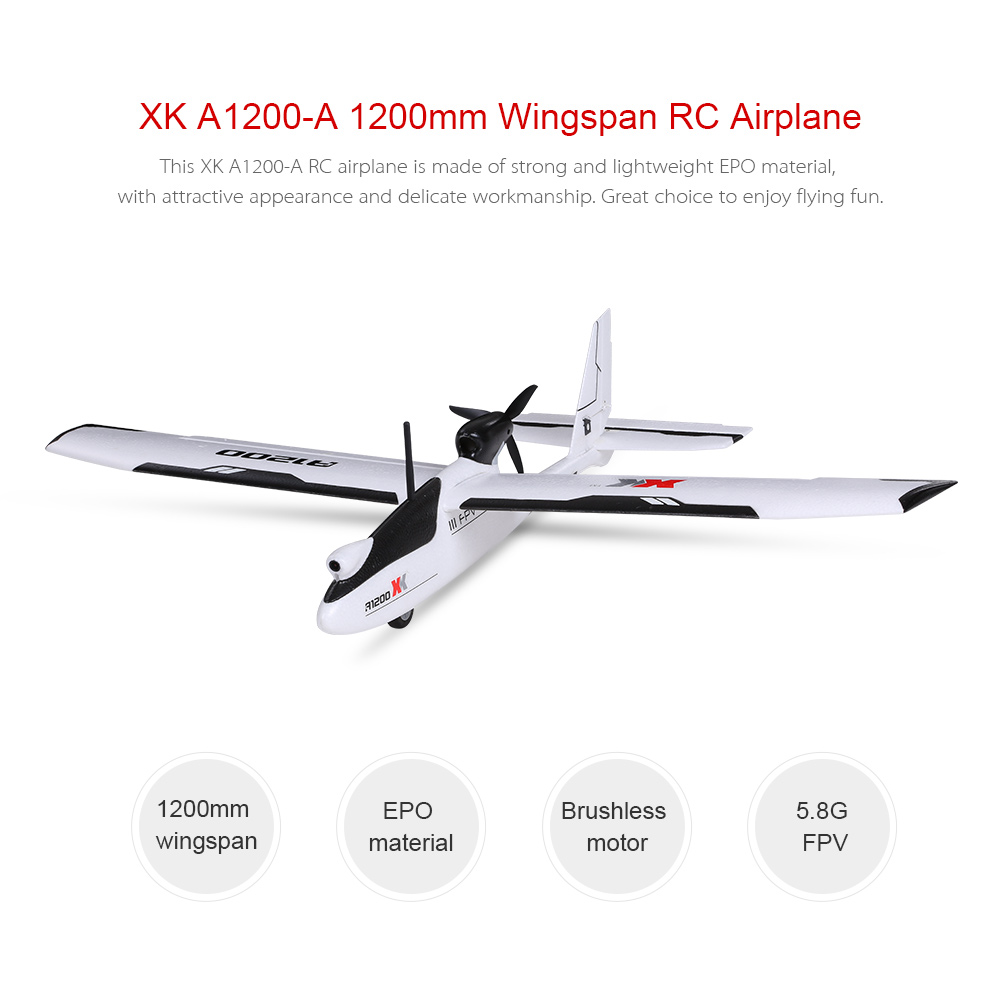 Original XK A1200 5.8G FPV 1080P 3D/6G 1200mm Wingspan Fixed-wing RC Airplane EPO RTF Drone Compatible with S-FHSS(China (Mainland))