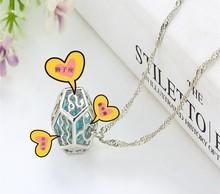 12 Constellation Steampunk Fairy Magical Glow in the Dark Necklace Aqua large locket Fashion Women Jewelry