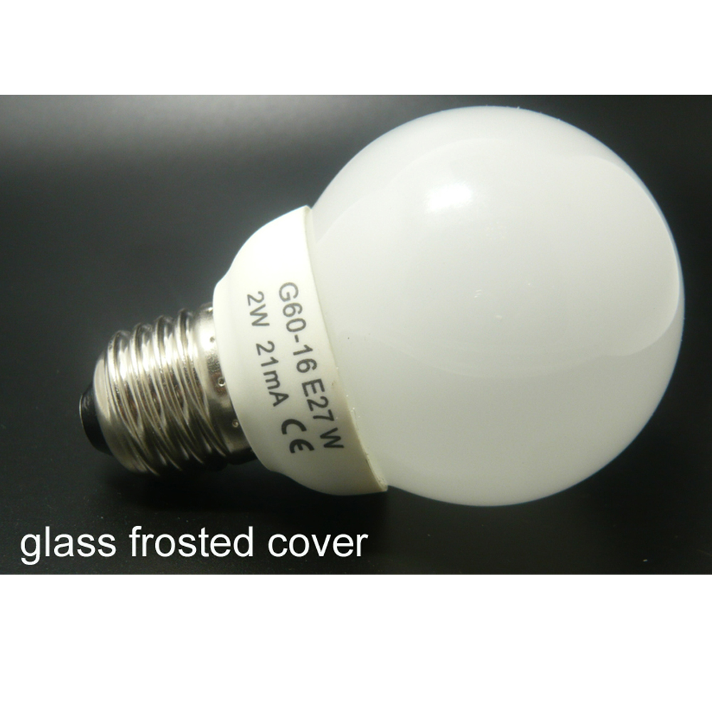 LED bulbs frosted cover 220v 2w e27 led lamp bubble ball bulb home lighting living room lamp(China (Mainland))