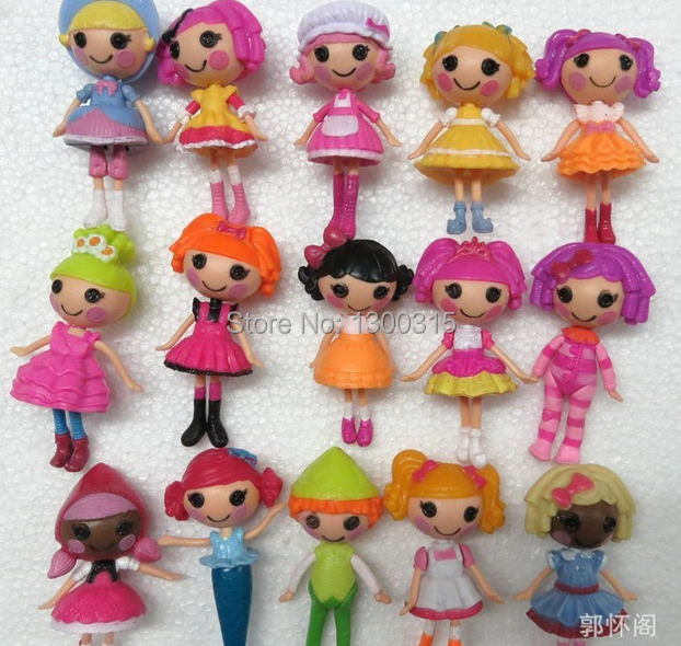 16pcs/lot  New 8cm MGA mini Lalaloopsy Doll the bulk button eyes toys for girl classic toys Brinquedos<br><br>Aliexpress