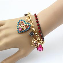 free shipping fashion bracelet for women 2015 hot bj Heart Jewel Bracelet(China (Mainland))